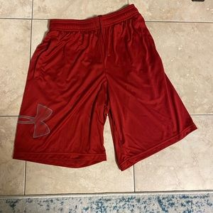 Almost new red shorts